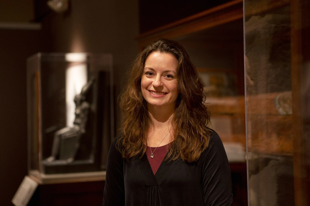 Christina Riggs at Harvard's Semitic Museum.