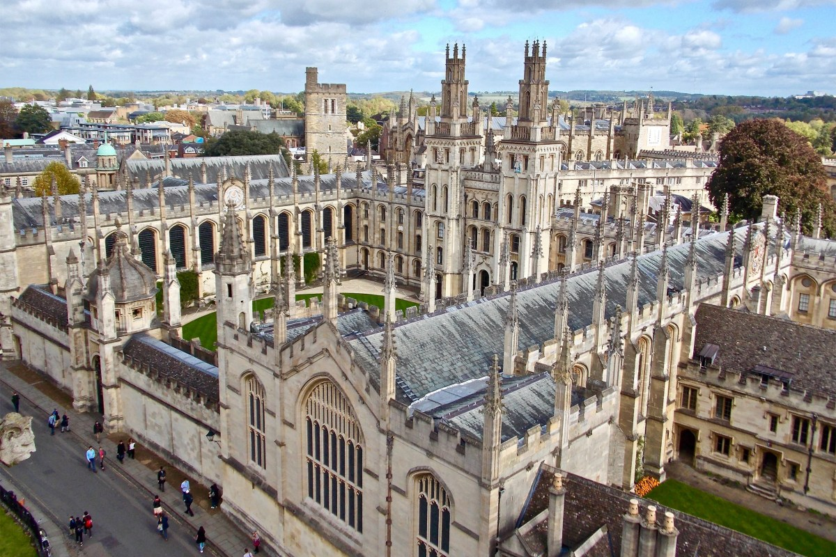 Oxford shot from above