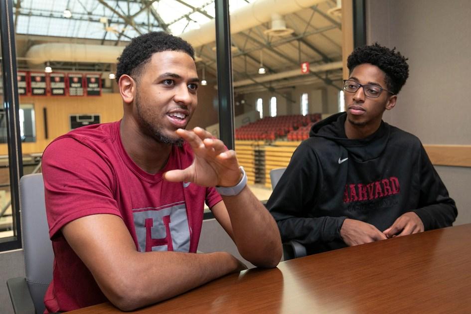 The Harvard men's basketball team gets an off-court education