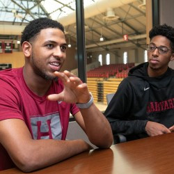The Harvard men's basketball team gets an off-court education