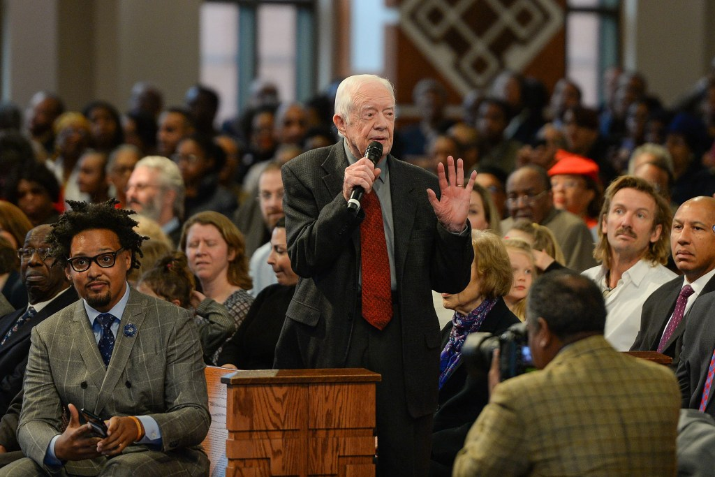 Jimmy Carter at Ebenezer Baptist Church.