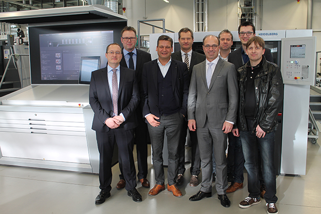 Lensing Druck Group with Heidelberg Management Board
