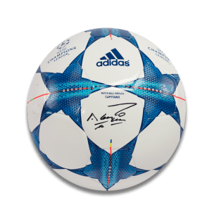 sergio-aguero-signed-puma-green-adidas-football