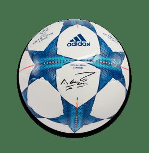 sergio-aguero-signed-puma-green-adidas-football