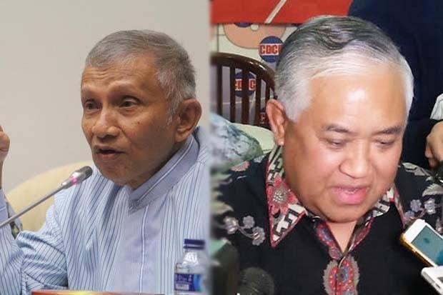 Dua mantan Ketua Umum PP Muhammadiyah, Amien Rais dan Din Syamsuddin dinilai kritis terhadap kebijakan pemerintah. Foto/SINDOnews