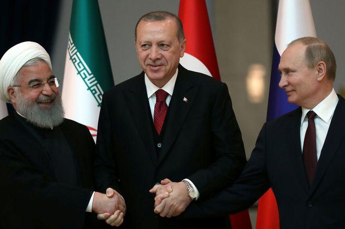 Iran, Rusia dan Turki Resmi Bikin Koalisi Tantang Israel di Suriah