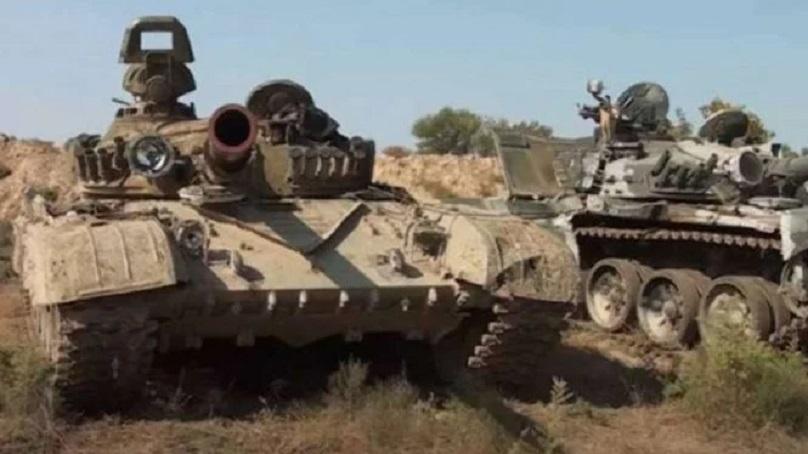 Tank militer Armenia terbengkalai di wilayah Azerbaijan