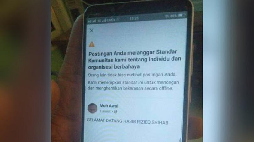 Facebook Dikecam karena Blokir Habib Rizieq