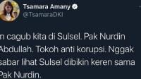 Gubernur Sulsel Ditangkap KPK, Dulu Tsamara PSI Bilang Nurdin Abdullah Tokoh Anti Korupsi