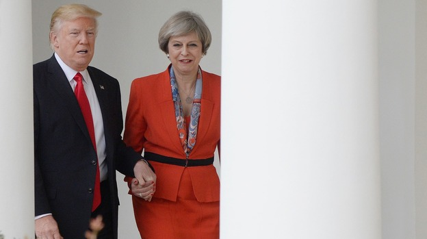 Image result for trump and may holding hands