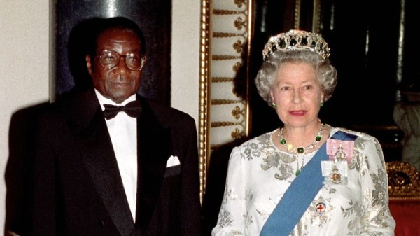 Robert Mugabe and Queen Elizabeth II