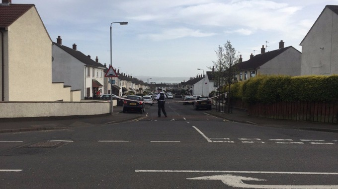 The scene of the shooting in Carrickfergus.