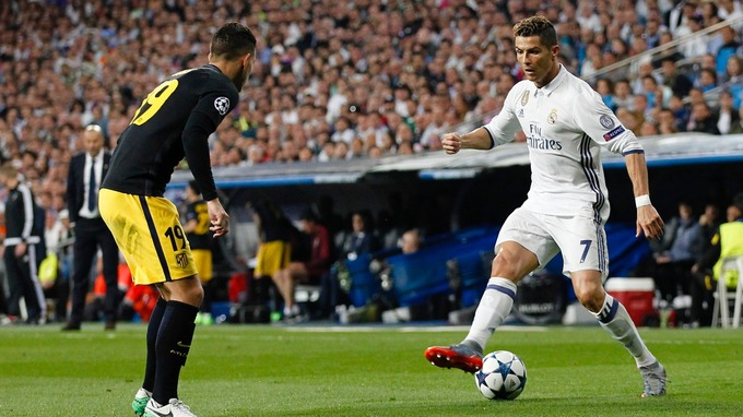 Ronaldo tormented Atletico throughout.