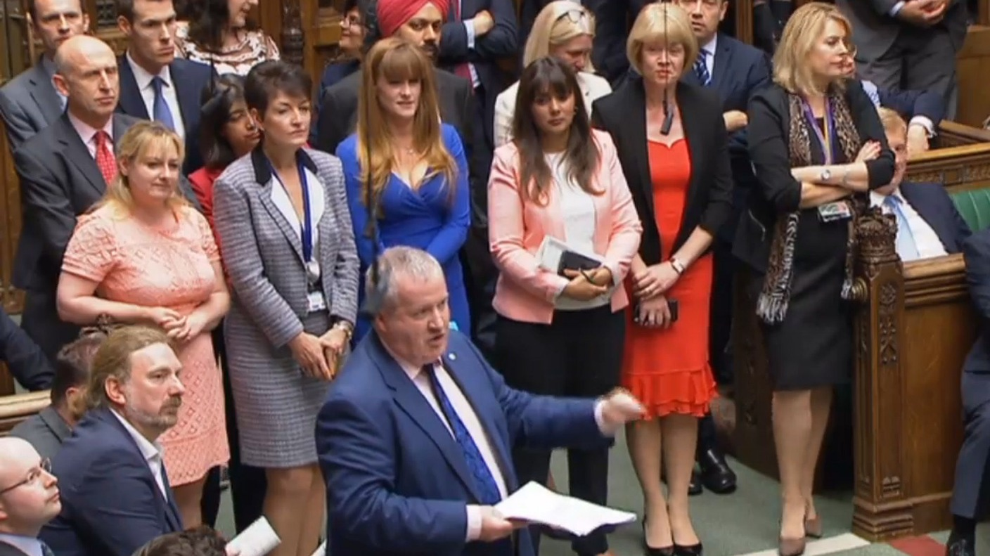 SNP Westminster Leader Kicked Out Of PMQs And MPs Follow