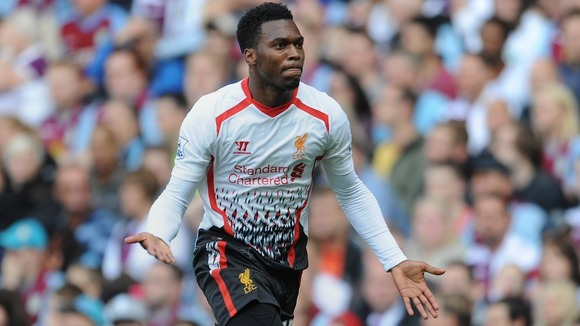 Liverpool's Daniel Sturridge after scoring against Aston Villa