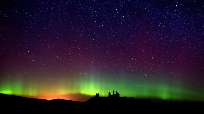 Image result for northumberland northern lights