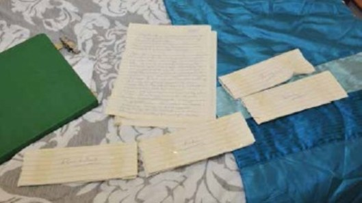 Letters written by Polly Chowdhury found in her bedroom