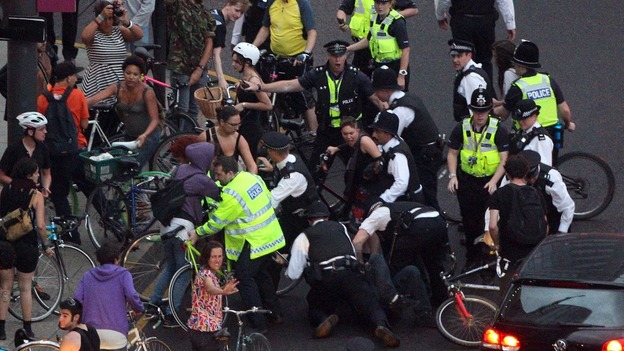 Police attack Critical Mass cyclists