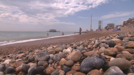 Storms cause cost of restoring beaches to go up   Meridian   ITV News Reports suggest the cost of restoring Brighton s pebble beach has gone up  Credit  ITV Meridian