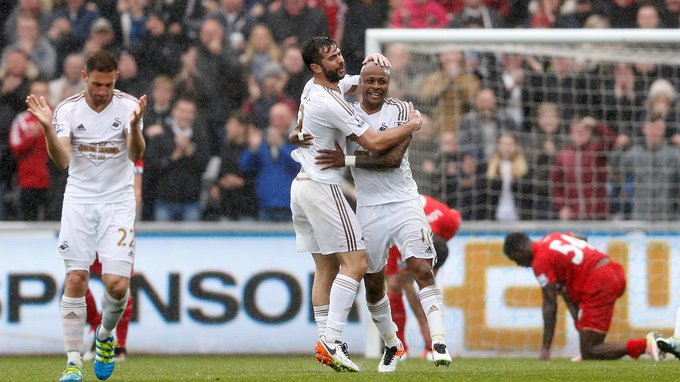 Image result for swansea 3-1 liverpool