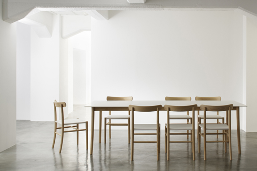 Lightwood Elegantly Designed In Corian And Wood By Jasper Morrison For Japanese Company Maruni