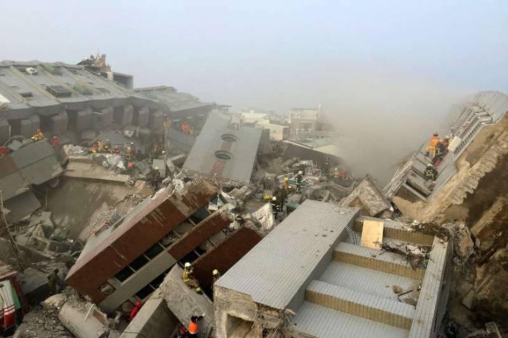 На Тайване растёт число жертв землетрясения: 37 погибших, судьба 117 неизвестна