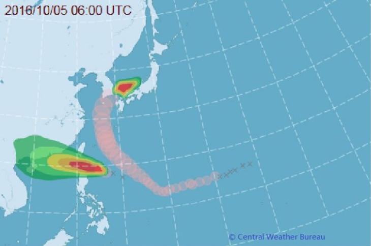 Тропический циклон №19 принесёт ливни на Тайвань