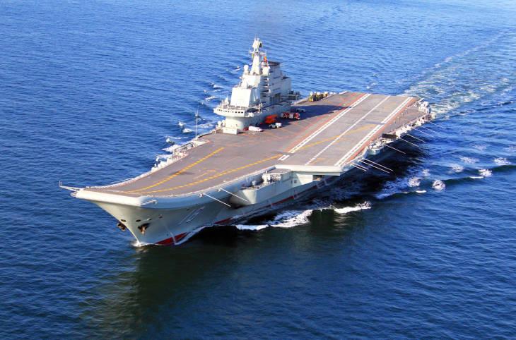 Китайская авианосная группа вблизи Тайваня
