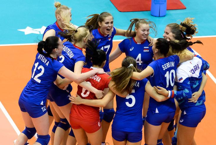 Уверенная победа волейболисток из России