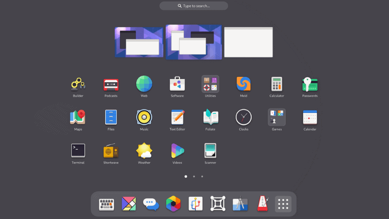 UX changes in GNOME 40