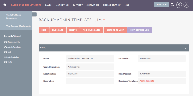 Dashboard Copy Manager for SuiteCRM