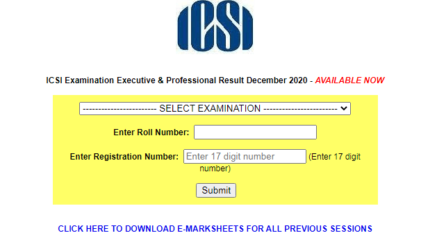 ICSI CS Result December 2020