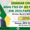 Seminar On Analysis of JEE MAIN PAPER FEB 2021 (2)