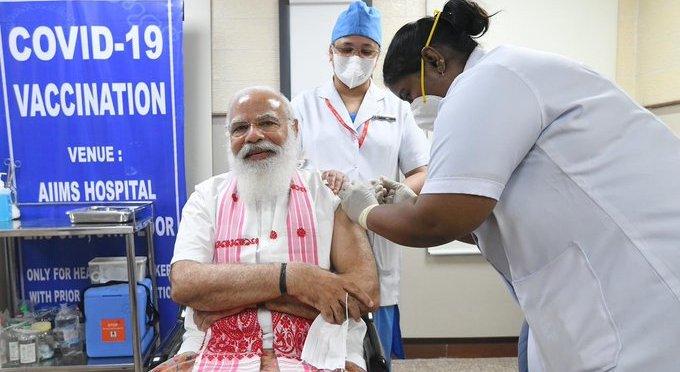 COVID19 vaccination PM MODI