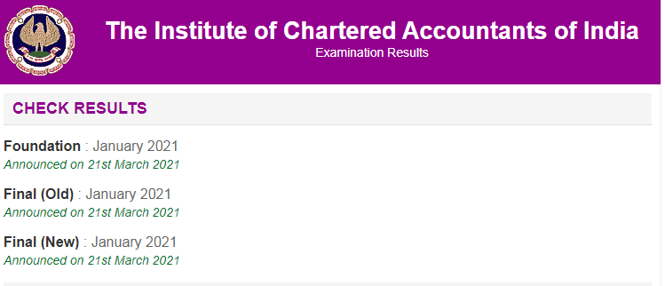 ICAI CA January 2021 Results