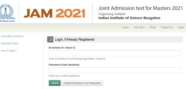 JAM 2021 Result