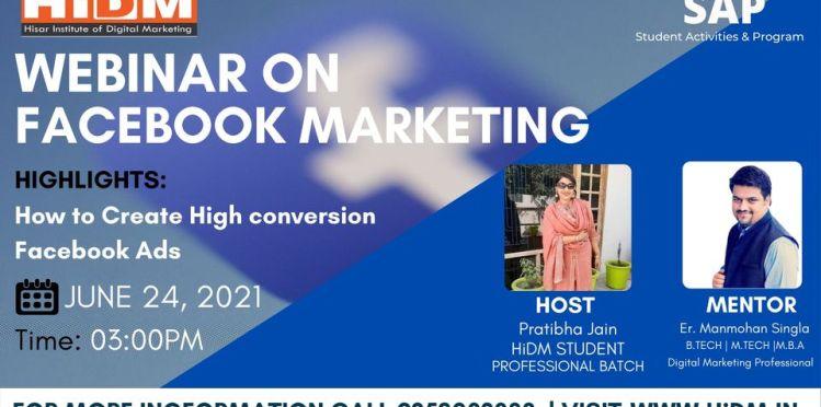 webinar fest 2021: webinar on facebook marketing