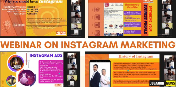 webinar on Instagram marketing jugaadin news