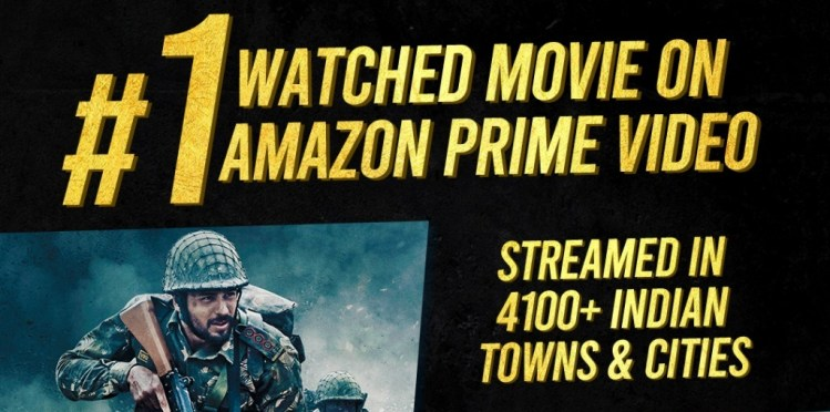 shershaah most watched amazon movie