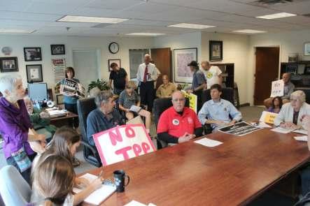 Rally at Jared Polis' Boulder Office
