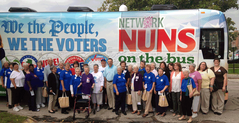 Resistance Radio: Nuns on the Bus arrive in Aurora