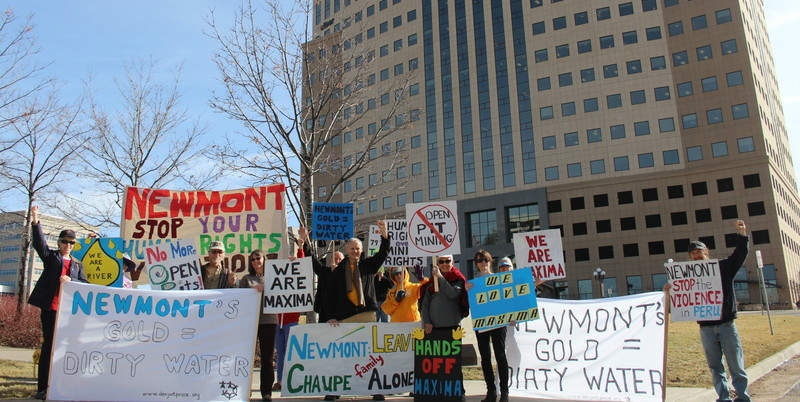 Global Actions Held to Support Maxima Chaupe in Her Struggle with Newmont Mining