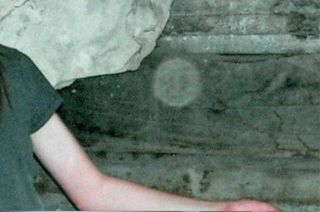"""Ghost Orb"" under a drainage ditch in Trinidad"