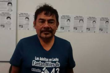 Felipe de la Cruz, a father of one of the students who survived the September 26th attack on students in Ayotzinapa, Mexico