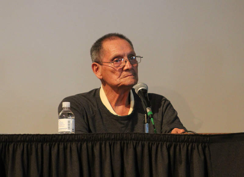 Ricardo Romero speaking at Metro State University on April 28, 2015. photo: KGNU News