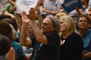 Audience at Bernie Sanders Rally