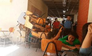 student protest desks