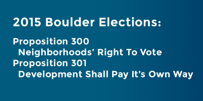 Boulder Propositions 300 and 301
