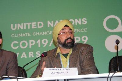 Harjeet Singh COP19 Warsaw