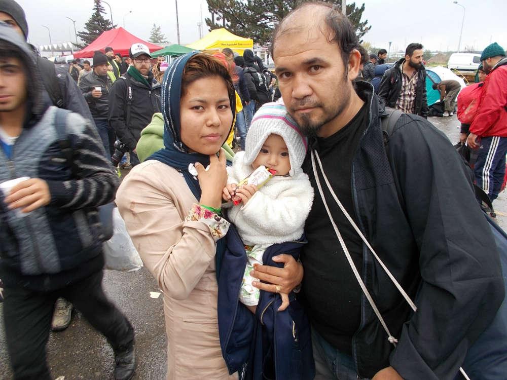 Refugee Family at Austria-Hungary Border